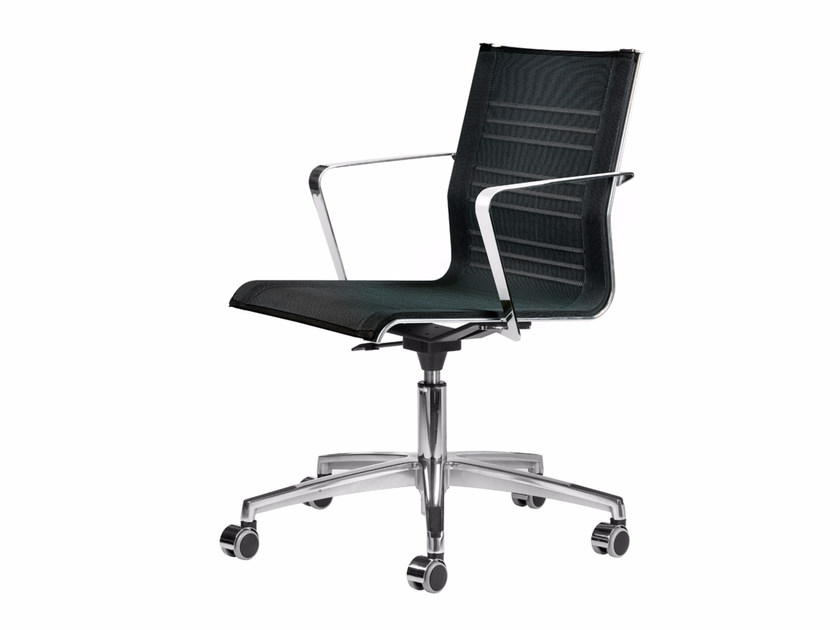 Mesh task chair with 5-Spoke base with armrests with casters KEYPLUS 3150 + OPT by TALIN