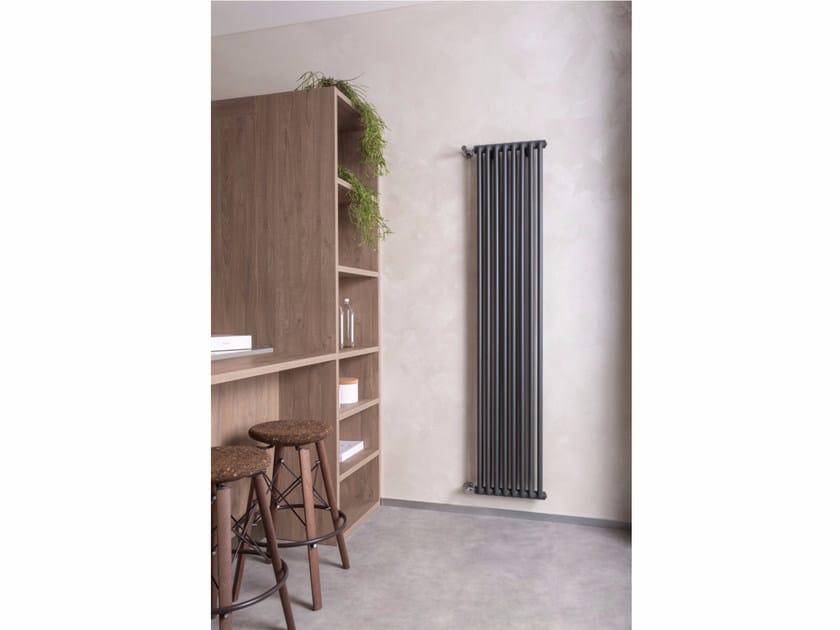 Vertical wall-mounted aluminium decorative radiator KICLOS 2 - RIDEA