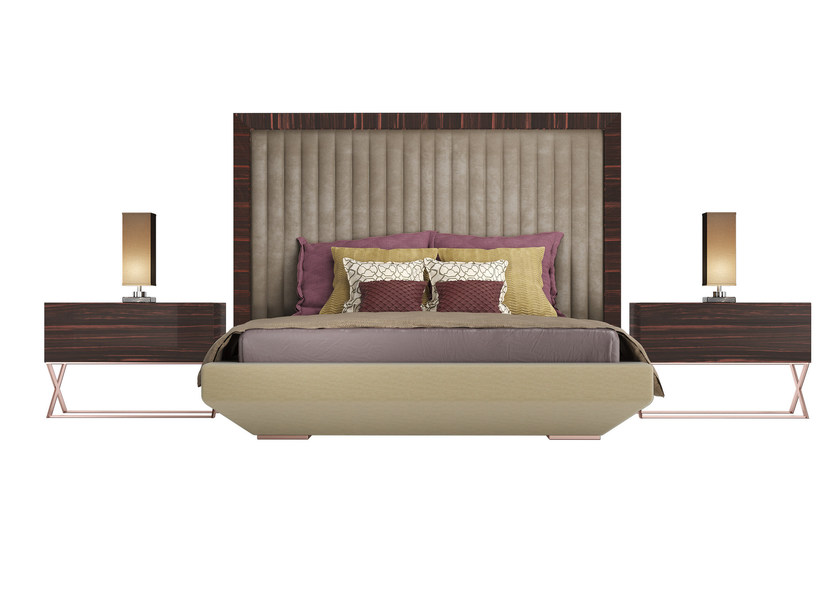 Double bed with upholstered headboard KIMERA M - Capital Collection by Atmosphera