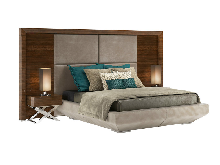 Double bed with upholstered headboard KIMERA V - Capital Collection by Atmosphera