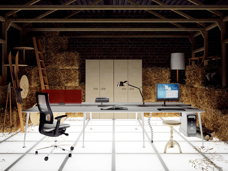 Multiple office workstation for open space KINESIS KC6 - Arcadia Componibili - Gruppo Penta