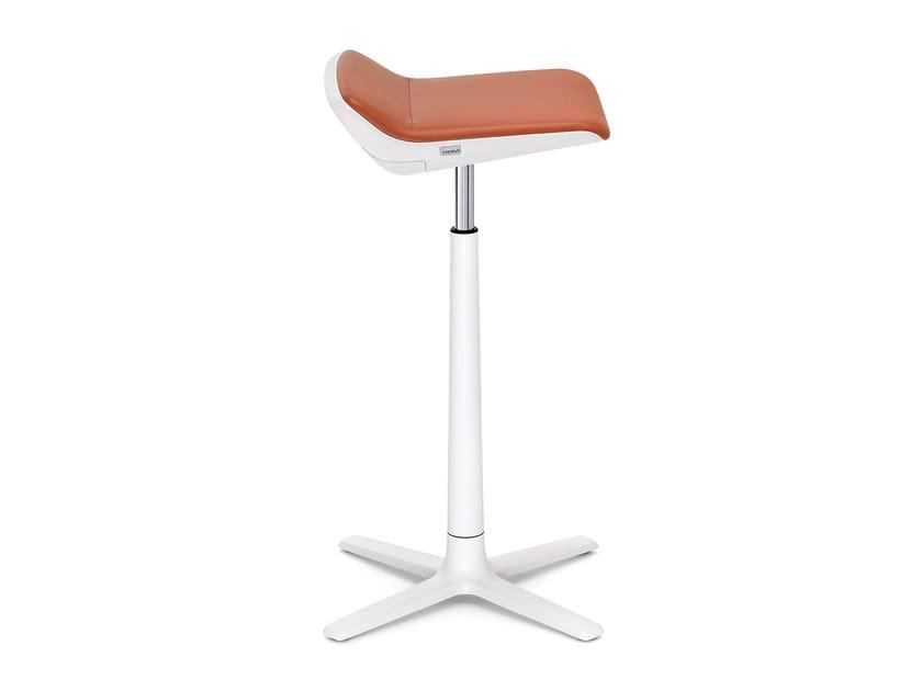 Aluminium office stool with 4-Spoke base KINETIC IS5 705K by Interstuhl