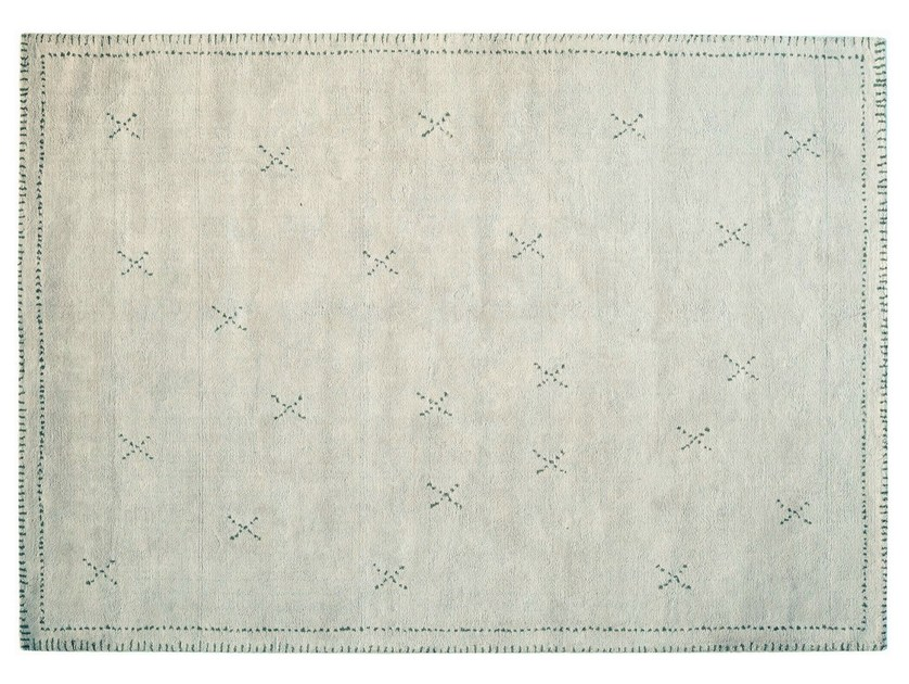 Rectangular cotton rug KISS - Toulemonde Bochart