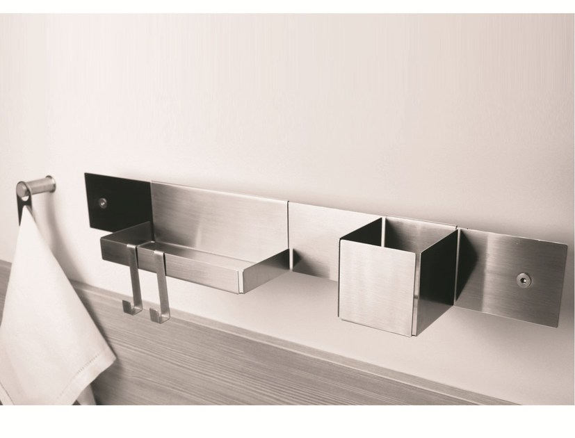 Stainless steel bathroom wall shelf EMME | 7070 - 1593 - MINA