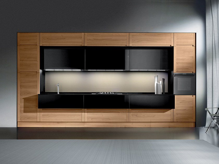 Multi-layer wood fitted kitchen MILLENIUM | Kitchen - Oikos Cucine