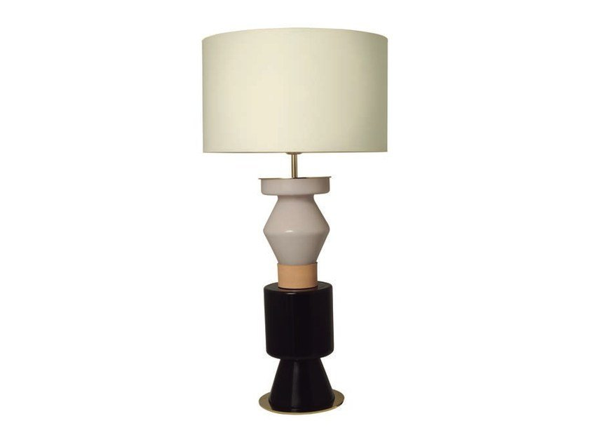 Stained glass table lamp with fixed arm KITTA PONN | Glass table lamp - Aromas del Campo