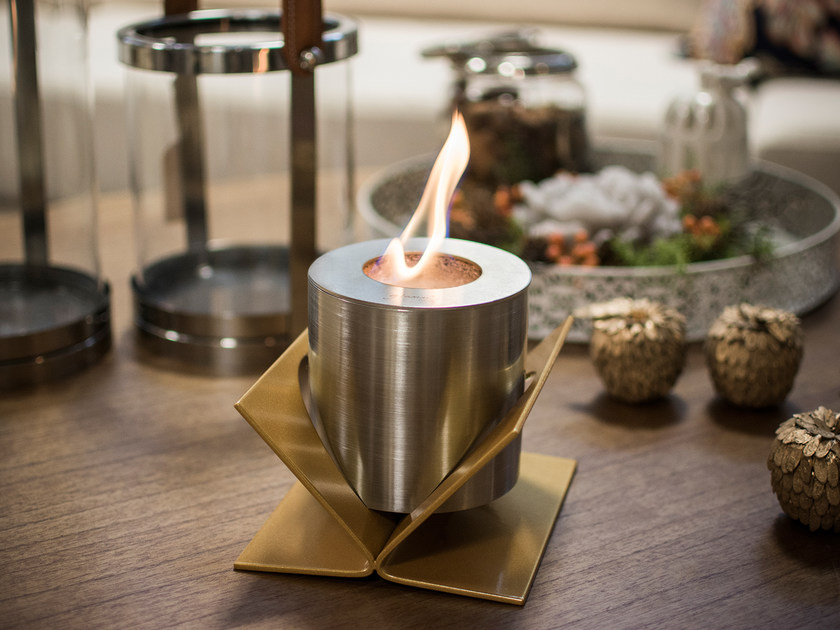 Table-top bioethanol steel fireplace KIVO TABLETOP - GlammFire