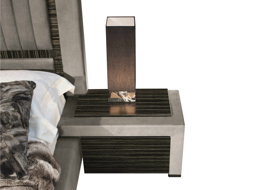 Rectangular solid wood bedside table with drawers KIWI - Capital Collection by Atmosphera