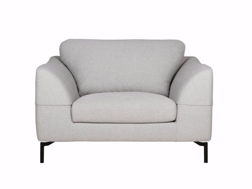 Upholstered fabric armchair with armrests KLARA | Armchair - SITS