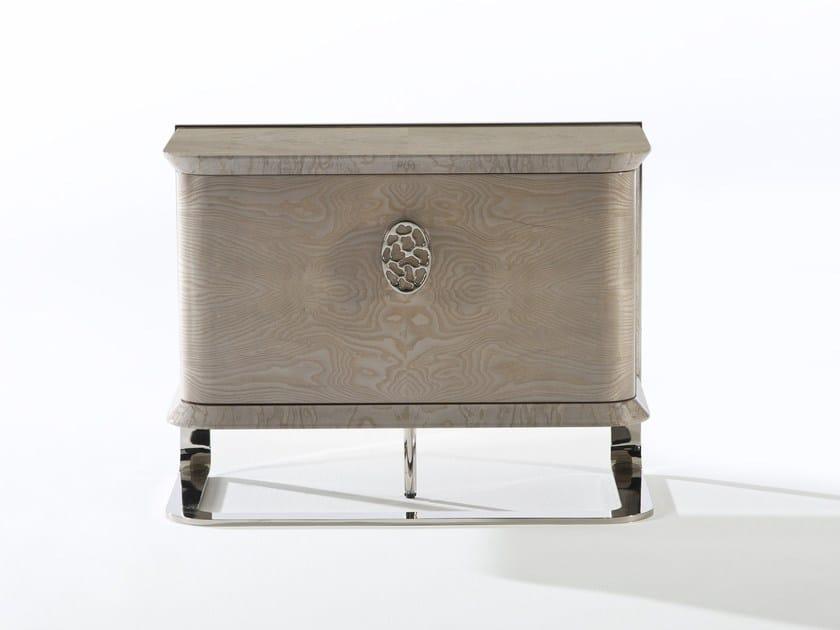 Rectangular ash bedside table KLASS   Ash bedside table by Muebles Canella