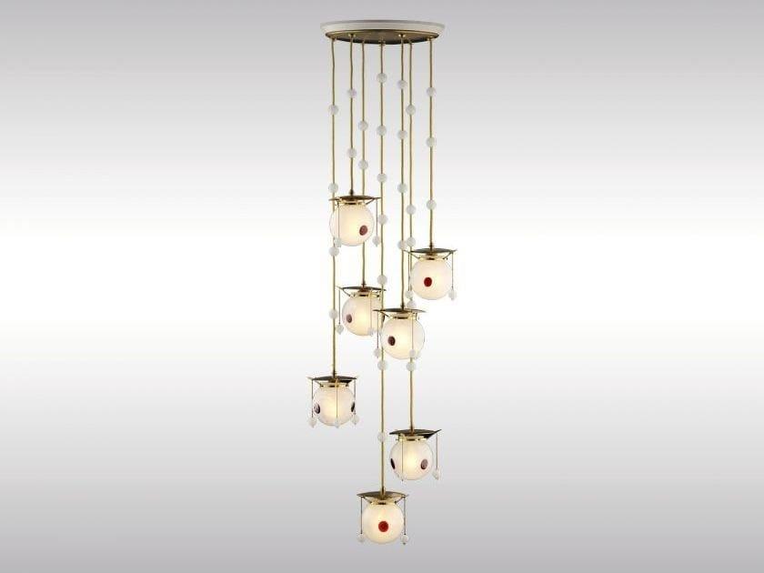 Classic style pendant lamp KOLOMAN MOSER CHANDELIER - Woka Lamps Vienna