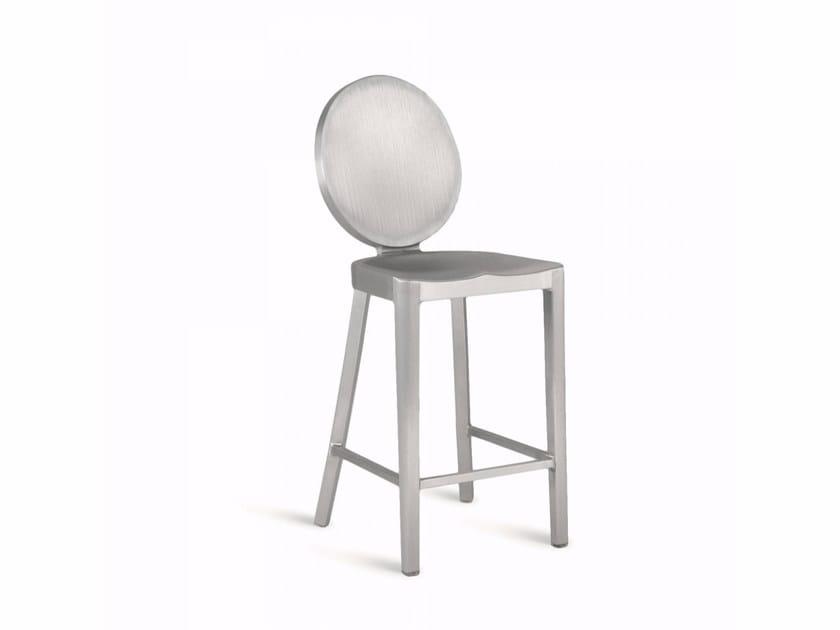 Sgabello alto in alluminio KONG | Sgabello - Emeco
