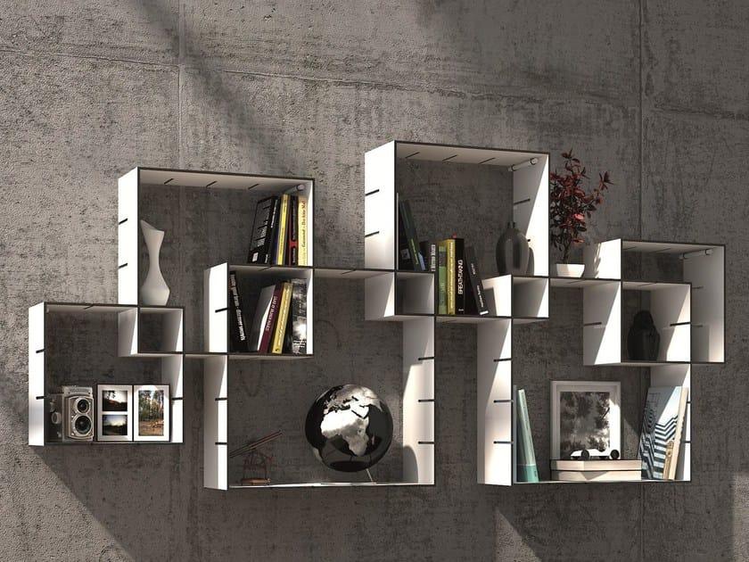 wall mounted sectional bookcase konnex by m ller m belwerkst tten design florian gross. Black Bedroom Furniture Sets. Home Design Ideas