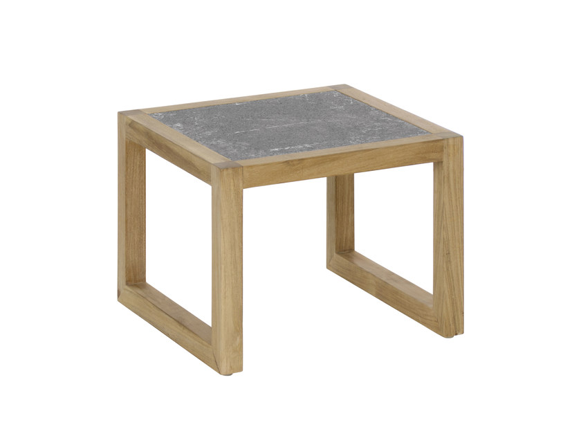 Low square garden side table KONTIKI | Low coffee table - EMU Group S.p.A.