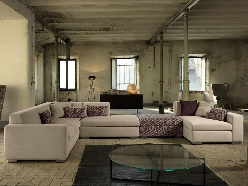 Corner fabric sofa KOOI | Corner sofa - Domingo Salotti