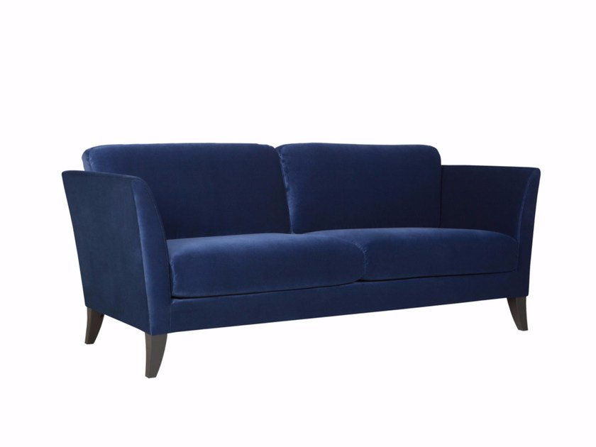 Upholstered 3 seater velvet sofa KORIANDER | Velvet sofa by SITS