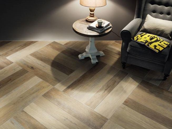 Porcelain stoneware flooring with wood effect KORZILIUS RUSTIC | Flooring - TUBADZIN