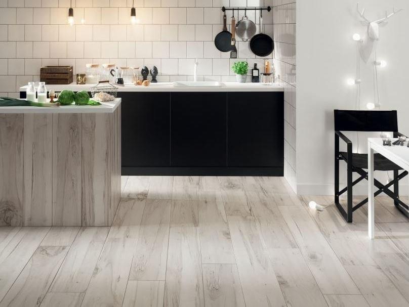 Porcelain stoneware wall/floor tiles with wood effect KORZILIUS WOOD by tubadzin