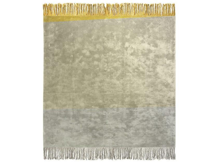 Handmade rectangular rug KOSMOPOLIT BLANK ICE - HENZEL STUDIO