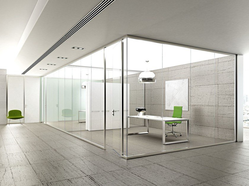 Glass partition wall KRISTAL 5 by Arcadia