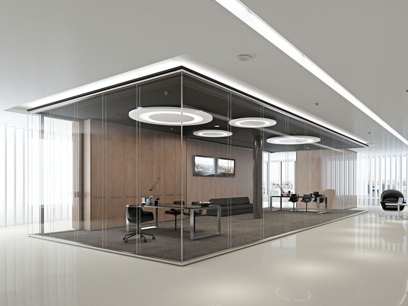 Glass partition wall KRISTAL TWIN - Arcadia Componibili - Gruppo Penta