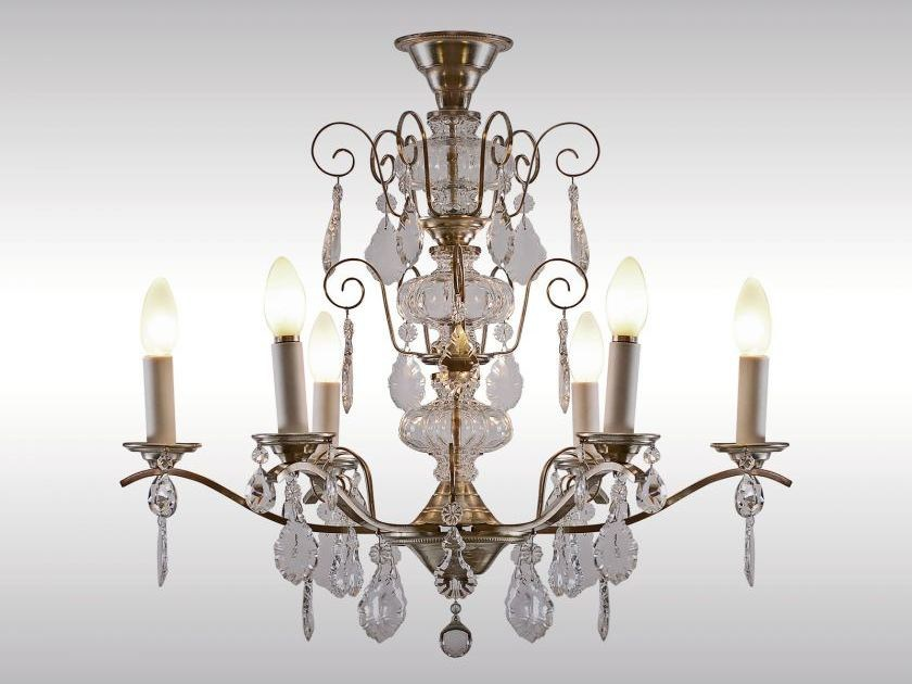 Classic style crystal chandelier KRISTALL-LUSTER by Woka Lamps Vienna