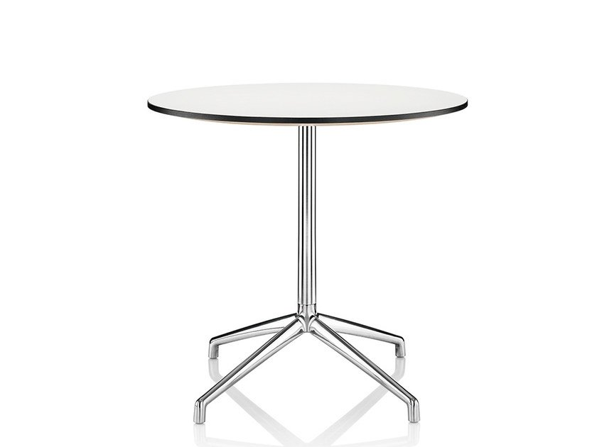 Lacquered table with 4-star base KRUZE | Lacquered table - Boss Design