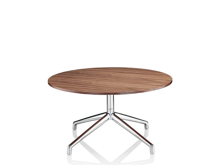Round coffee table with 4-star base KRUZE | Melamine coffee table - Boss Design