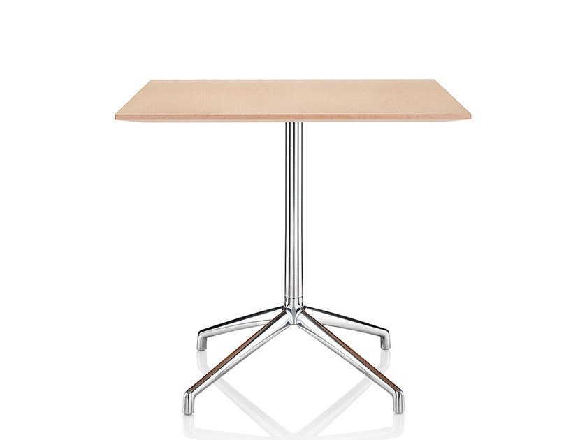 Square melamine table with 4-star base KRUZE | Table - Boss Design