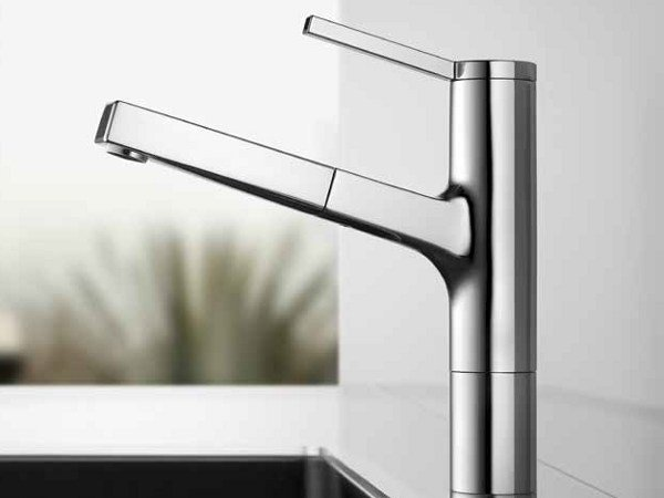 Countertop kitchen mixer tap with pull out spray KWC AVA | Kitchen mixer tap - Franke Water Systems AG, KWC