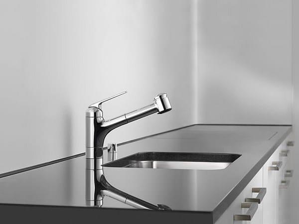 Miscelatore da cucina da piano con doccetta estraibile KWC DOMO | Miscelatore da cucina by KWC