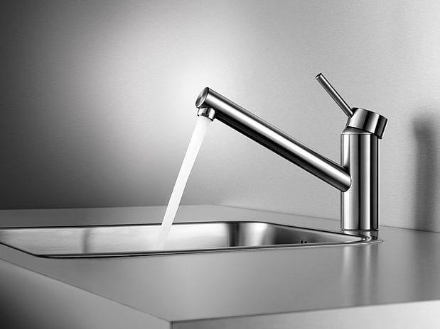Miscelatore da cucina da piano monoforo in acciaio inox KWC INOX | Miscelatore da cucina monoforo by KWC