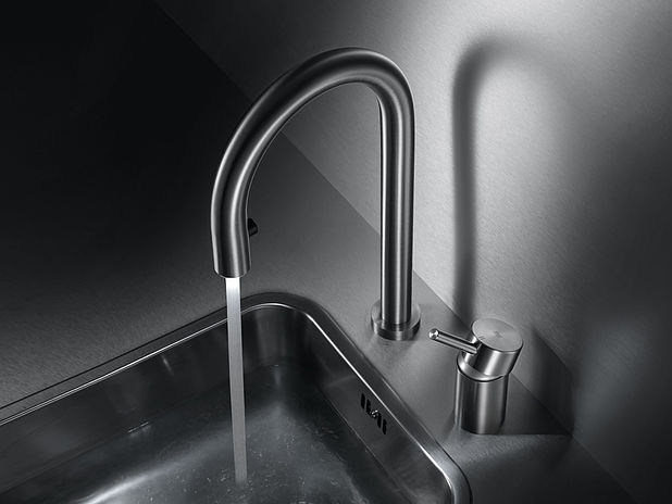 2 hole countertop stainless steel kitchen mixer tap with pull out spray KWC INOX | 2 hole kitchen mixer tap - Franke Water Systems AG, KWC