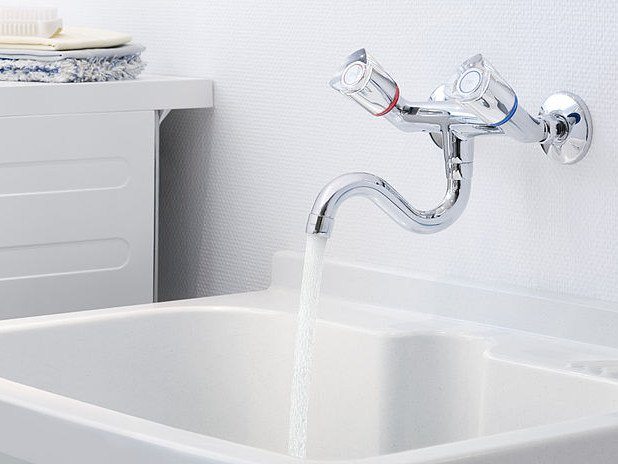 2 hole wall-mounted bridge mixer KWC STAR | Wall-mounted washbasin tap - Franke Water Systems AG, KWC