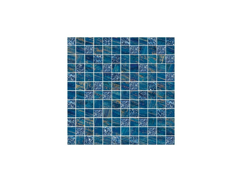 Porcelain stoneware mosaic LUX BLU - CERAMICHE BRENNERO