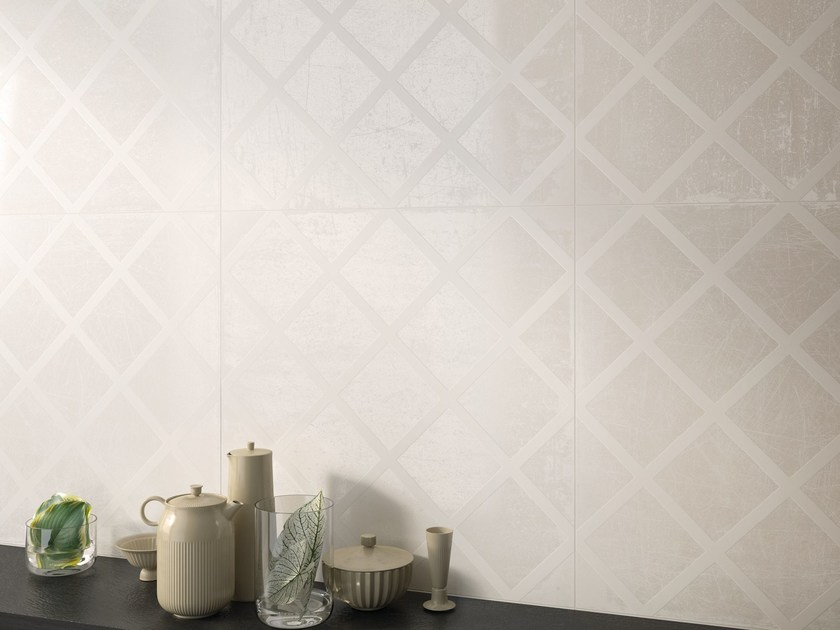 Porcelain stoneware wall/floor tiles L'H - LACCA BIANCO by Viva by Emilgroup