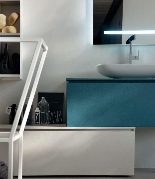 Mobile bagno / mobile lavabo in rovere LA FENICE - COMPOSIZIONE 21 ...