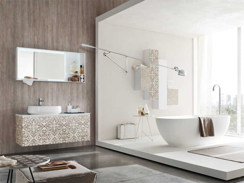 Sistema bagno componibile la fenice decor composizione - Composizione piastrelle bagno ...