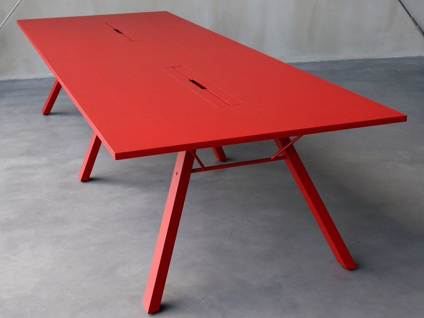 Rectangular table LAB | Meeting table with cable management by Inno Interior Oy