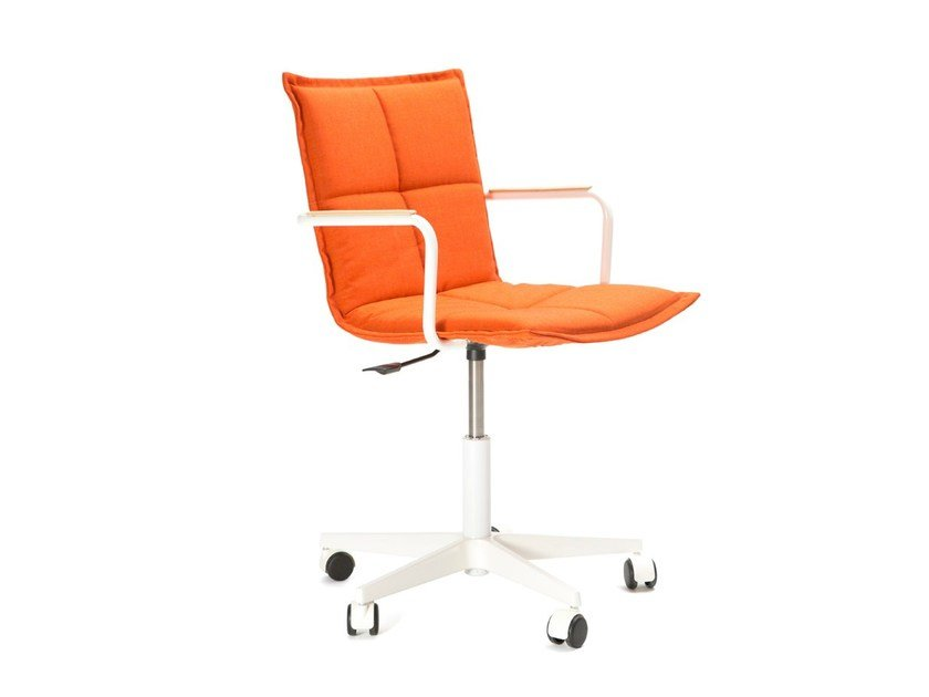 Height-adjustable task chair with 5-Spoke base with casters LAB Z METAL - Inno Interior Oy