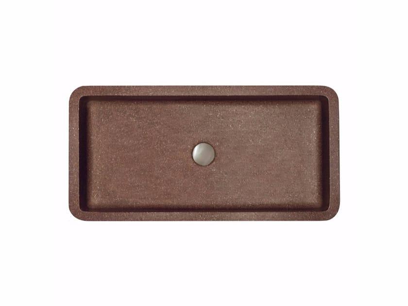Countertop rectangular single marble grit washbasin LABO - Mipa