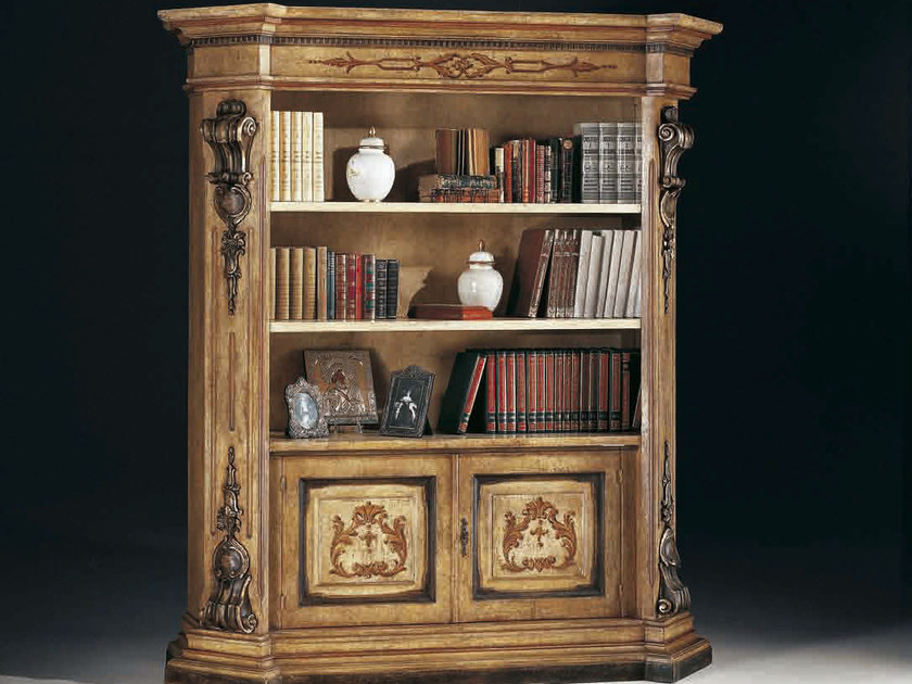 Open lacquered bookcase MACCHIAVELLI | Lacquered bookcase - Arvestyle