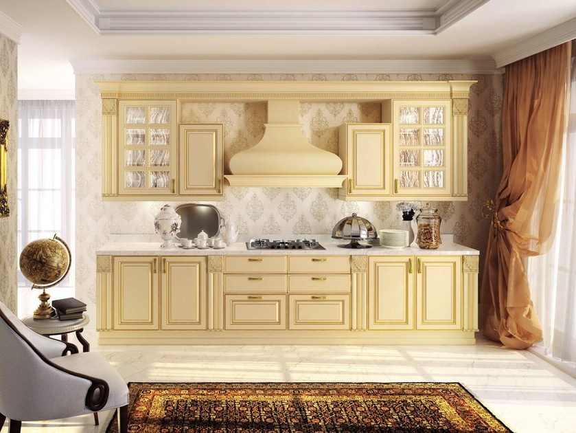 Lacquered wooden fitted kitchen MICHELANGELO | Lacquered kitchen - Oikos Cucine