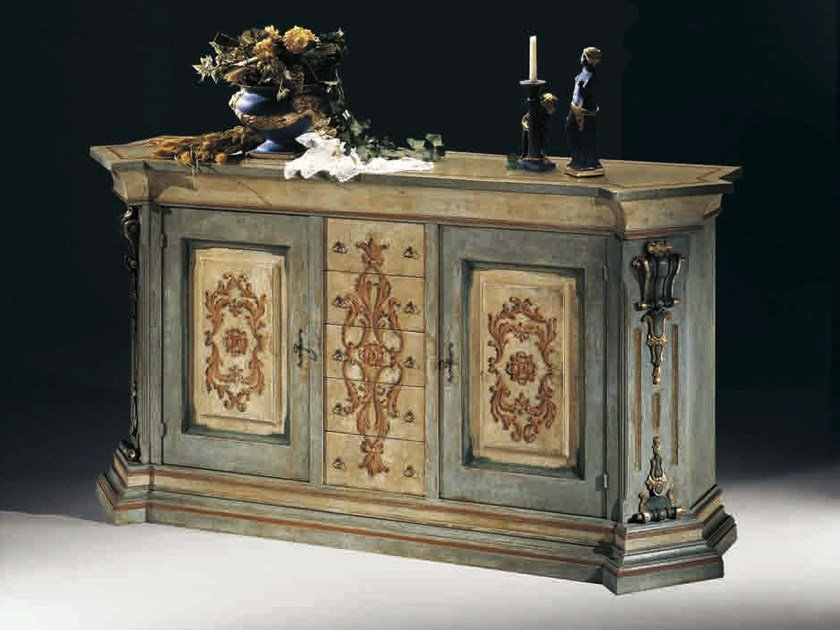 Solid wood sideboard with doors MACCHIAVELLI | Lacquered sideboard - Arvestyle