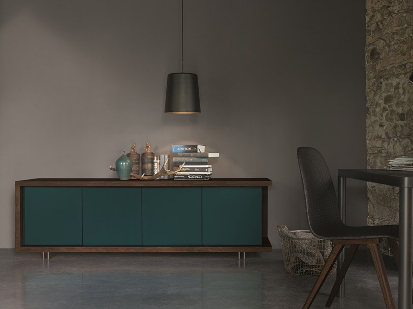 Lacquered oak sideboard with doors FRAME | Lacquered sideboard by Dall'Agnese