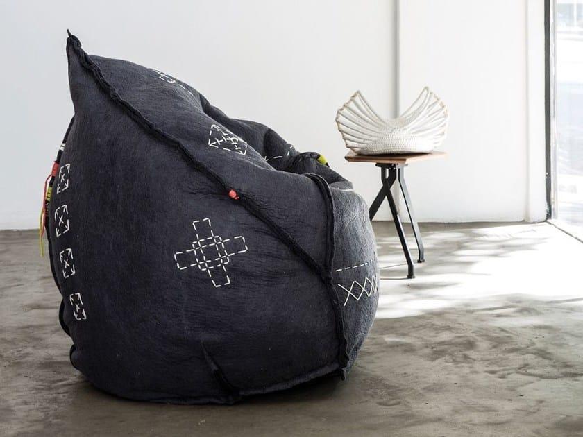 Wool felt bean bag LALIBELLA CHAIR by Ronel Jordaan™