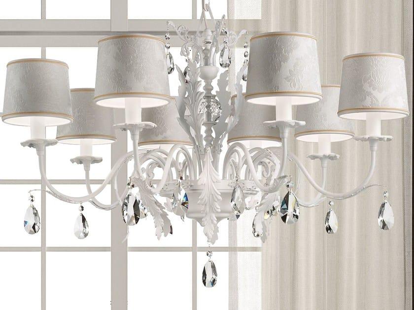 Lampadario a luce diretta in metallo con cristalli ACANTIA | Lampadario by Masiero