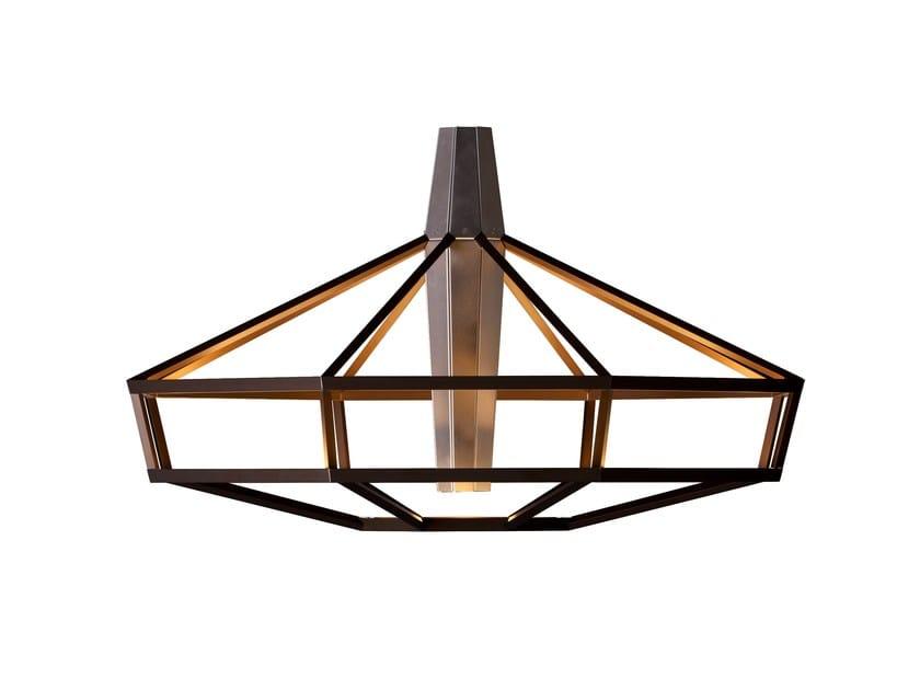 Aluminium chandelier LAMPSI by Driade