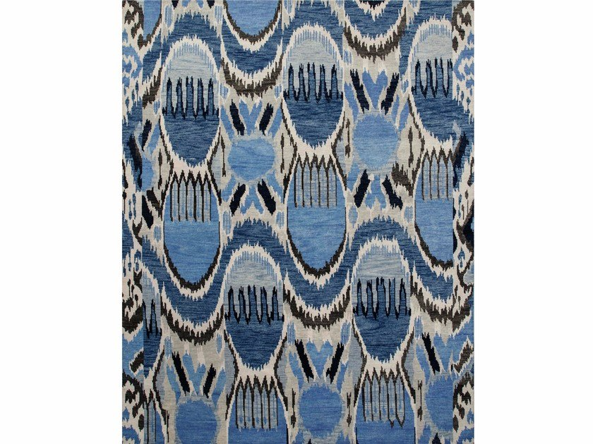 Tappeto in lana LANCIA LCA-09 Antique White/Evening Blue by Jaipur Rugs