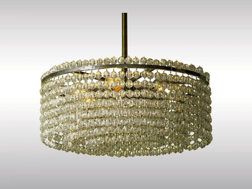 Classic style crystal pendant lamp LANGENZERSDORF - Woka Lamps Vienna